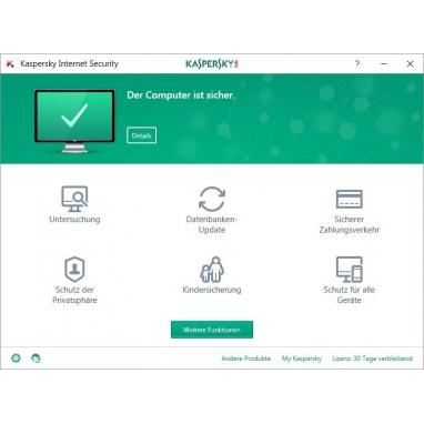 Kaspersky Internet Security 2 Geräte 2017 Multi Device Download Aktivierungsschlüssel