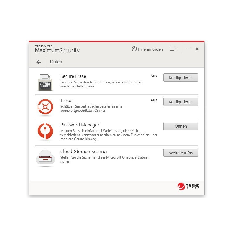 Trend Micro Maximum Security 5 Geräte 1 Jahr Multi Device