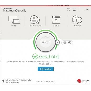 Trend Micro Maximum Security 5 Geräte Multi Device Download Aktivierungsschlüssel