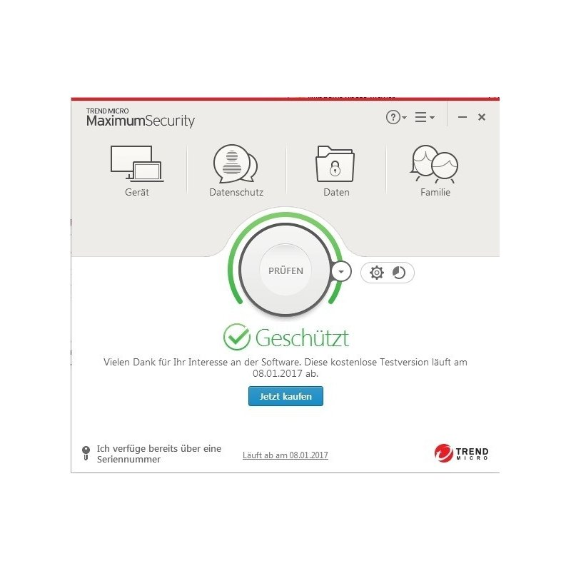 Buy Trend Micro Internet Security 1 PC instantly as a Digital