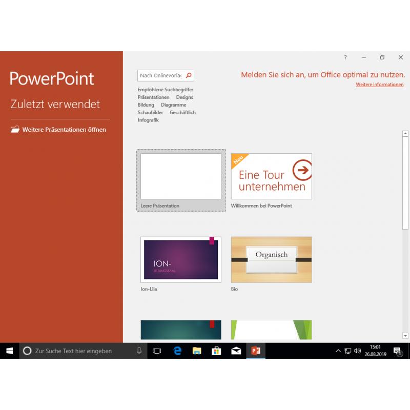 Buy Microsoft Office 2019 Standard instantly as a Digital