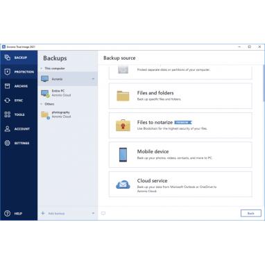 Acronis True Image 2019 Backup Software ( + 2020 Upgrade) - 1 PC